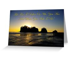 james island, wa & reflection Greeting Card