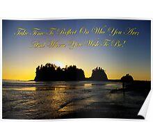 james island, wa & reflection Poster