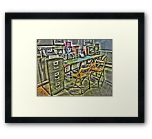 The Radio Room Framed Print