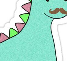 Cute Blue Dinosaur Mustache Sticker