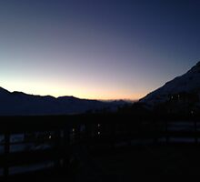 Sunset in The Alps - Val Thorens by Helen Edwards