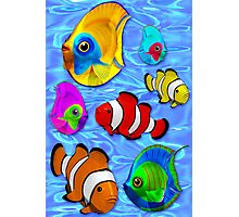 Tropical Fishes Pattern Photographic Print