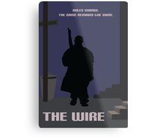 The Wire minimalist work Metal Print