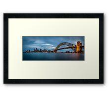 Sydney Harbour Blues Framed Print