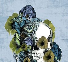 On a pedestal, floral skull by KristyPatterson