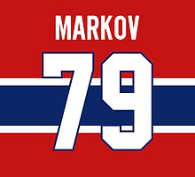 Montreal Canadiens Andrei Markov Jersey Back Phone Case by Russ Jericho