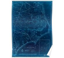 Civil War Maps 0353 Eastern portion of the Military Department of North Carolina Inverted Poster