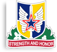 Aviation Brigade - 35th Infantry Division - Strength And Honor Canvas Print
