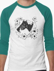 Bat in Apple Tree Ladies T-Shirt by HNTM Men's Baseball ¾ T-Shirt