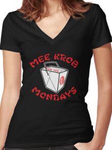 Mee Krob Mondays Women's Fitted V-Neck T-Shirt
