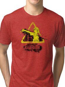 1,000,000,000 Volt Railgun Tri-blend T-Shirt