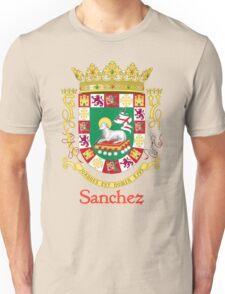 Sanchez Shield of Puerto Rico Unisex T-Shirt