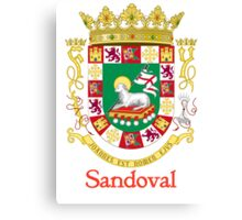 Sandoval Shield of Puerto Rico Canvas Print