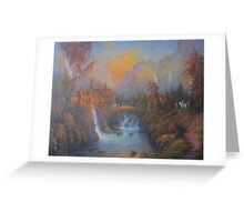 Farewell To Rivendell (The Passing Of The Elves ) Greeting Card