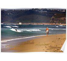 Seaside Stroll Poster