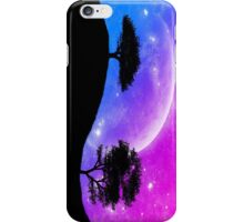 Tree Silhouettes Against the Beautiful Moon iPhone Case/Skin