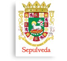 Sepulveda Shield of Puerto Rico Canvas Print