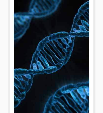 Microscopic Code of Life DNA Double Helix Sticker