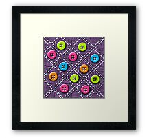 Colorful Buttons and Stitches Framed Print