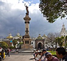 Quito Ecuador's Main Square by Al Bourassa