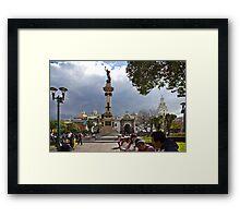 Quito Ecuador's Main Square Framed Print