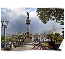 Quito Ecuador's Main Square Poster
