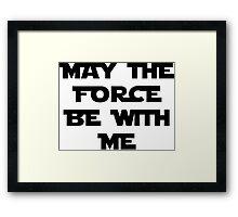Force Framed Print