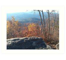 Una Bella Vista Delle Montagne Art Print