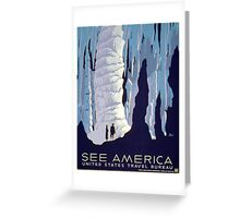 See America, Ice Caverns Greeting Card