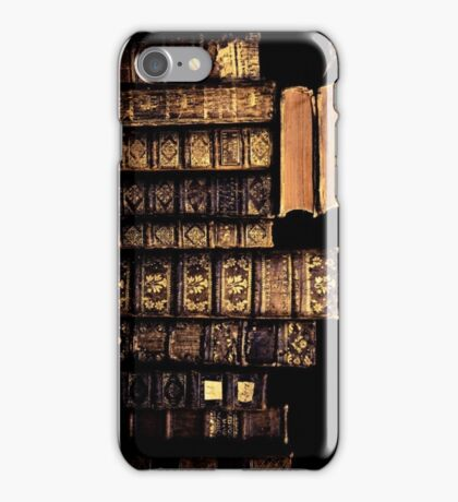 Retro Olden Times Books iPhone Case/Skin