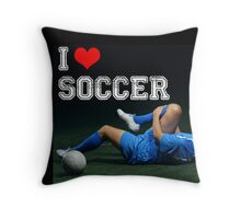 I Heart Soccer - Mockingly. Annoy your Soccer Friends Throw Pillow