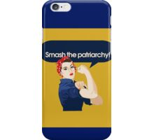 Smash the Patriarchy  iPhone Case/Skin