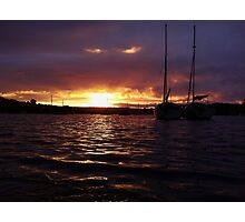 Harbour Sunset 2 Photographic Print