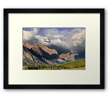 Storm Brewing in St. Mary Valley Framed Print