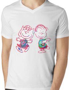 Sally and Linus Mens V-Neck T-Shirt