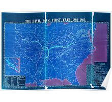 Civil War Maps 1113 McConnell's Historical maps of the United States Inverted Poster