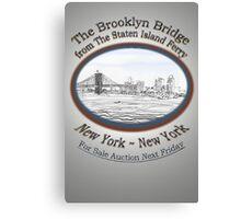 Brooklyn Bridge For Sale Canvas Print