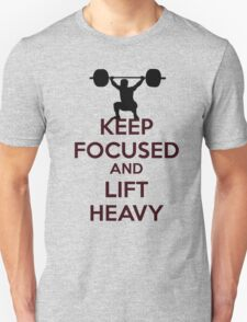 Stay focused gym message T-Shirt