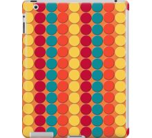 Teal, Red, Yellow Dots on Orange Background iPad Case/Skin
