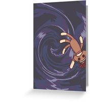 Wormhole Sock Monkey Greeting Card