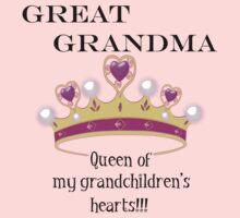 Great Grandma Queen of My Grandchildren's Hearts T-Shirt