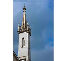 Cathedral Spire & Clock Photographic Print