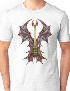 Gothic Guitar Bat Wings Unisex T-Shirt