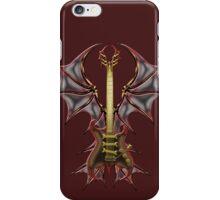 Gothic Guitar Bat Wings iPhone Case/Skin