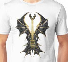 Gothic Black Guitar Bat Wings Unisex T-Shirt