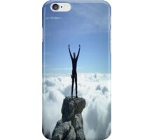 Victory Climb in the Clouds iPhone Case/Skin