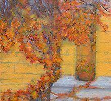 Virginia Creeper, Chateau Biron, France by JackieSherwood