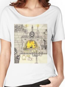 A Dining Room In A Medieval Castle Women's Relaxed Fit T-Shirt