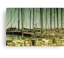 sailing in turgutreis d-marin  Canvas Print