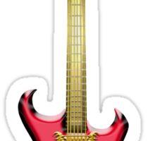 Red Gothic Bat Guitar Sticker